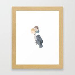 Baby Manatee Framed Art Print