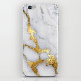 Italian gold marble II iPhone Skin