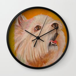 Westhighland White Terrier Portrait Wall Clock