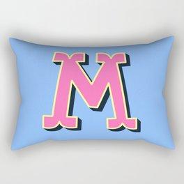 M Initial Letter Rectangular Pillow