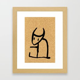 cork paper spirit Framed Art Print