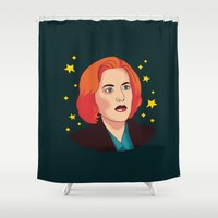 mulder Shower Curtains featuring Mulder No by fin apollo