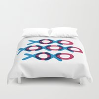 xoxo Duvet Covers featuring XOXO by ghennah