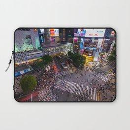 Crowd walking across Shibuya crossing in Tokyo, Japan Laptop Sleeve