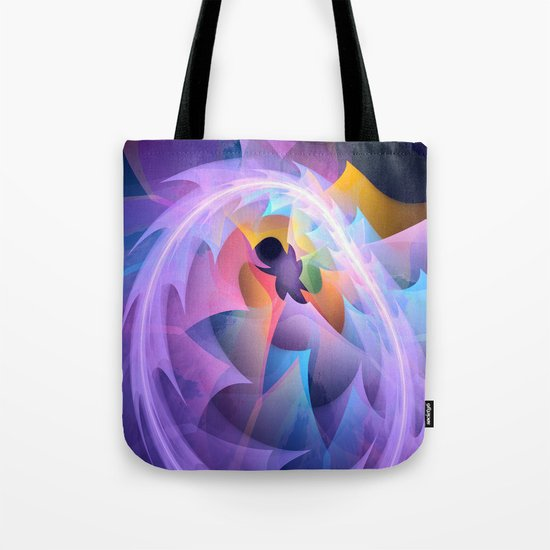 Cyclone of feelings, colourful fractal abstract Tote Bag