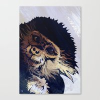 monkey Canvas Prints featuring MONKEY by SAMHAIN