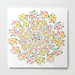 Beautiful Floral - floral, flowers, flower, rose Metal Print