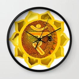 Manipura Natural Wall Clock