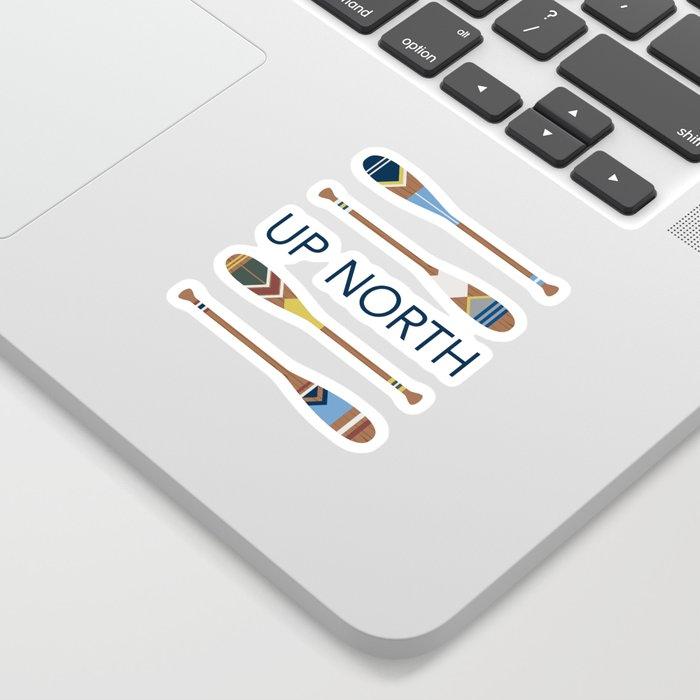 Up North Oars Sticker