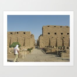 Temple of Karnak at Egypt, no. 4 Art Print