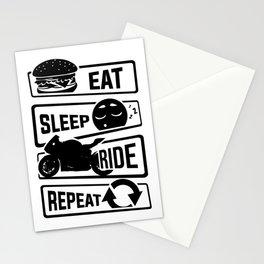 Eat Sleep Ride Repeat - Motorcycle Biker Street Stationery Cards