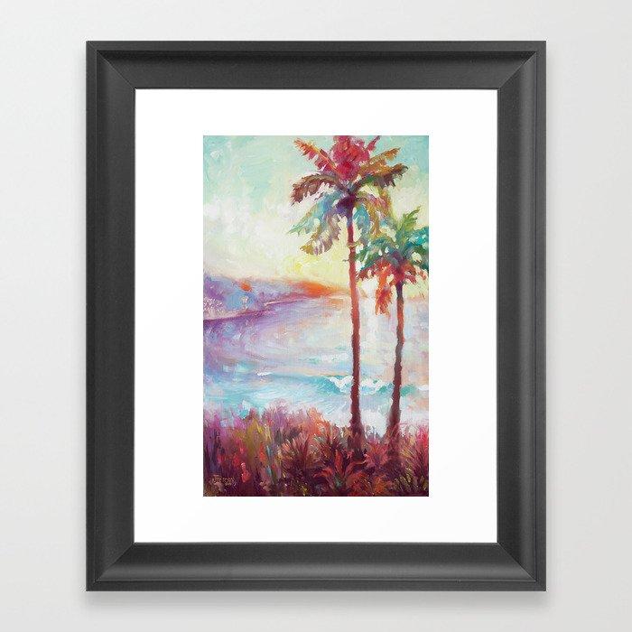 Sunrise in Hawaii Gerahmter Kunstdruck