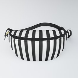 Black & White Small Vertical Stripes - Mix & Match with Simplicity of Life Fanny Pack
