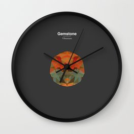Gemstone - Vibranium Wall Clock