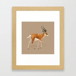 Gazelle. Framed Art Print