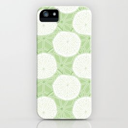 Rounded Pennywort Foliage Pattern iPhone Case