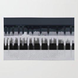 White Wash, Dark Alleys, Blue Wharf Rug