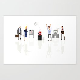 Office Zombies Art Print