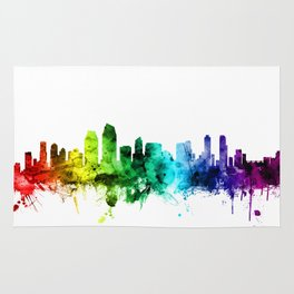 San Diego California Skyline Rug