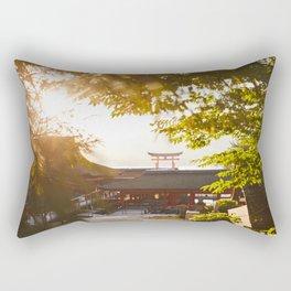 Miajima Shrine in Japan Rectangular Pillow