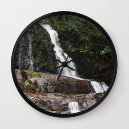 Tennessee Waterfall Smoky Mountains Color Photo Wall Clock