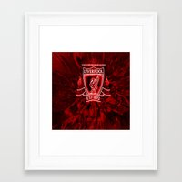 liverpool Framed Art Prints featuring LIVERPOOL LOVER by Acus