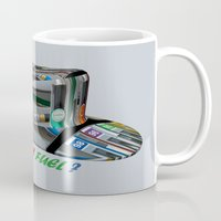 pocket fuel Mugs featuring Need Some Fuel ? by Avigur