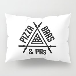 Pizza, Bars and PRs Fitness Triangle v2 Pillow Sham