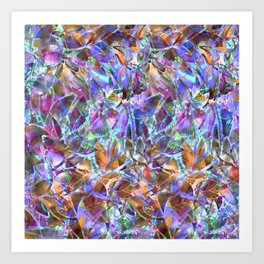 Floral Abstract Stained Glass G268 Art Print