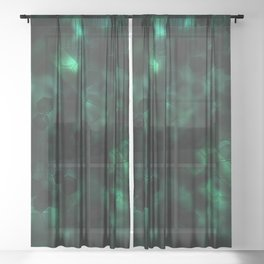 Digital Forest Cool Variant Sheer Curtain