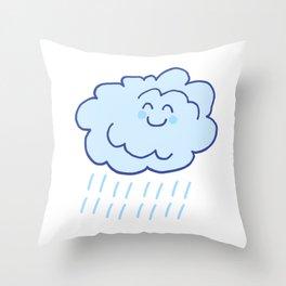 Rainy Floof Throw Pillow