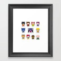Pixel X-Men Framed Art Print