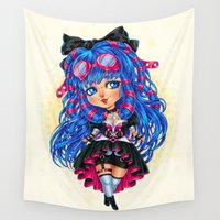 chibi Wall Tapestries featuring CyberGoth Chibi by DiMary