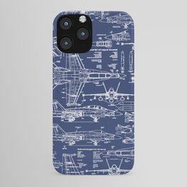 F-18 Blueprints iPhone Case