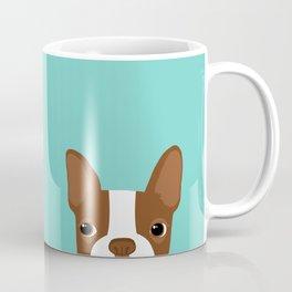 Red Boston Terrier Coffee Mug