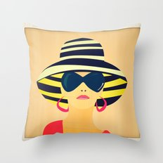 Snapshot (Colour) Throw Pillow