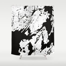 Black and white world Shower Curtain