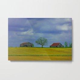 Lone Tree on a Hill Metal Print