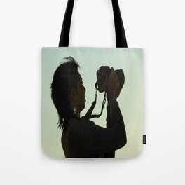 Girl with Camera  Tote Bag