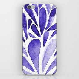 Watercolor artistic drops - electric blue iPhone Skin