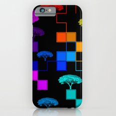 squares and trees iPhone 6s Slim Case