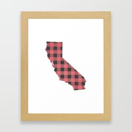 California Plaid in Pink Framed Art Print
