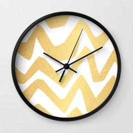 Golden Lines Wall Clock
