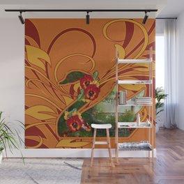Tropical Swan Wall Mural