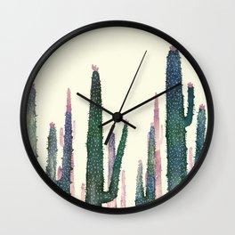 cactus water color Wall Clock