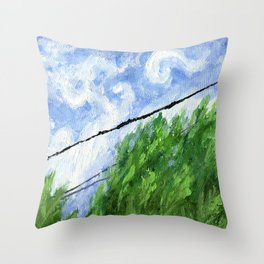 Tress, Wind and Cables Throw Pillow