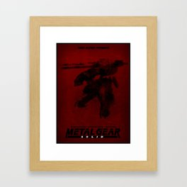 Metal Gear Rex Digital Ink-Blot Fan Art Minimalist Poster Framed Art Print
