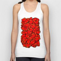 hearts Tank Tops featuring Heart by 10813 Apparel