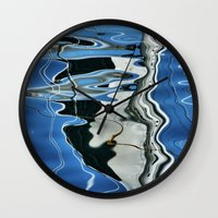 mirror Wall Clocks featuring Mirror by Anne Seltmann