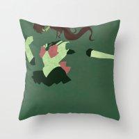 sailor jupiter Throw Pillows featuring Sailor Jupiter by JHTY